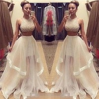 Prom Evening Dress Two Pieces