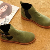 Autumn and Winter Women Boots Suede Leather Fashion Ankle Boots Women's Boots Casual Brand Shoes  Free Shipping