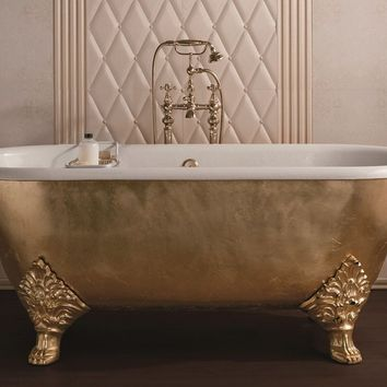 Classic style freestanding bathtub CARLTON GOLD Cast iron bathtubs Collection by GENTRY HOME