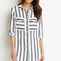Mixed Stripe Longline Shirt