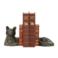 Pair Cat Napping Bookends