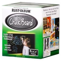 Rust-Oleum Specialty, 30-oz. Flat Black Chalkboard Paint, 206540 at The Home Depot - Mobile