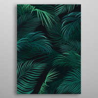 Palm leaves on dark background by Jace Anderson | Displate