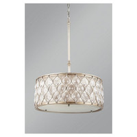 Murray Feiss Lucia 3 Light Crystal Drum Shade Chandelier - F2568/3BUS