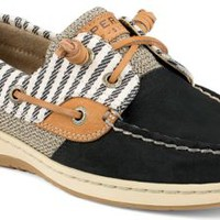 Sperry Top-Sider Bluefish Mariner Stripe 2-Eye Boat Shoe Black, Size 7M  Women's Shoes