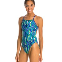 Nike Prism Cut-Out Tank Swimsuit at SwimOutlet.com - Free Shipping