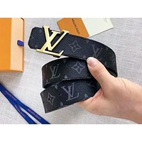 LV Louis vuitton fashion hit for men and women with retro printed letter belts