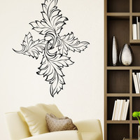 Vinyl Wall Decal Sticker Leaves Diamond Design #OS_AA1721