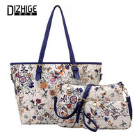 2016 3 Sets Women Ethnic Handbags National Flowers Messenger Bags Summer Composite Spain Bags Woman Neverfull Chinese Bag 3 set