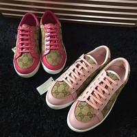 Gucci Women's GG Guccissima Canvas Fashion Casual Sneakers Shoes