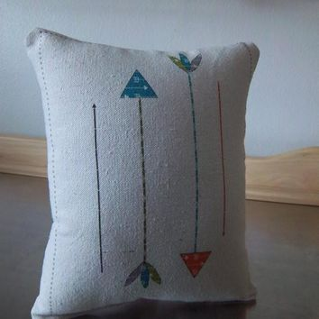 Arrow pillow baby first birthday gift room decor