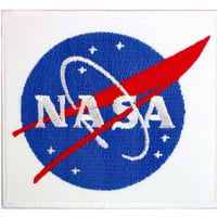 """NASA Space Centre Shuttle Iron On Embroidered Patch 3""""/7.6cm"""