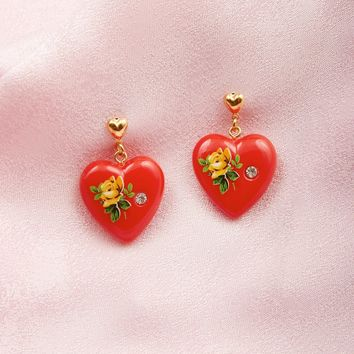 Why Not Earrings - Red