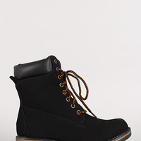 Lace Up Work Ankle Bootie