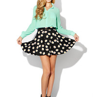 Papaya Clothing Online :: DAISY FLORAL BELTED SKATER SKIRT