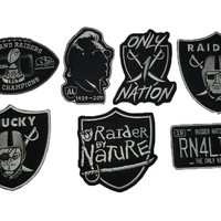 Raider Nation Patch Bundle Iron on/Sew on Patches