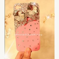 iPhone 4 Case, iPhone 4s case, iPhone 5 Case, Bling iPhone 4 case, iPhone 5 bling case, PInk iPhone 4 case, iPhone 4 case bow, case iphone 4