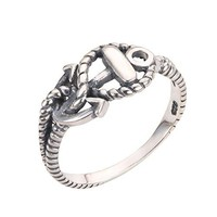 CloseoutWarehouse Sterling Silver Anchor of Hope Ring Sizes 215