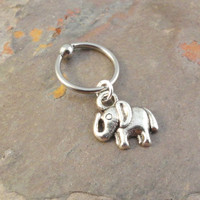 Elephant Cartilage Hoop Captive Earring Belly Ring