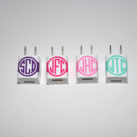 iPhone Phone Charger Monogram personalized by FourPandas on Etsy