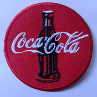 Coca-Cola Patch Iron or Sew  on Embroidered-Appliques Free Delivery