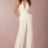 Mara Jumpsuit by Anthropologie x BHLDN in Ivory Size: