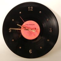 """BRUCE SPRINGSTEEN Vinyl Record Wall Clock 'Born In The USA""""  by recordsandstuff"""