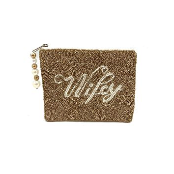 WIFEY Beaded Coin Purse