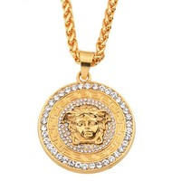 Boys & Men Fashion Hip Hop Versace Necklace