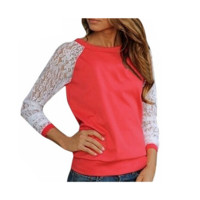 Trendy Floral Lace Long Sleeve Shirt