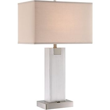 """30""""H Clifton 2-light Table Lamp Brushed Nickel"""