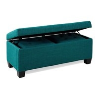 Myra 3pc Storage Ottoman Set TEAL