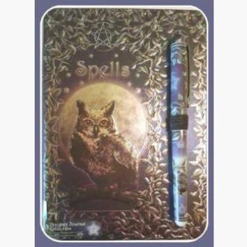 Owl Spell with Pen Journal