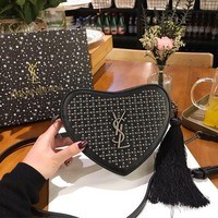 Saint Laurent YSL Monogram Mini Heart-Shaped Bag