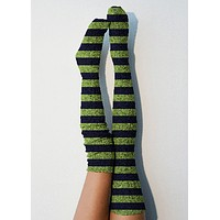 Spirit Marled Cable Knit Thigh High Socks, OTK Thigh Highs, Stockings, PM-088SP