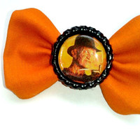 Small Orange Freddy Krueger, Nightmare on Elm Street Hair bow, Accessory, Halloween