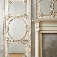 Rococo Mirror by Anthropologie Ivory