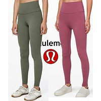 Onewel LuluLemon Women Fashion Sport Trouser Yoga Pants Girls Legging high elasticity Pink Army green