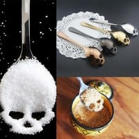 Skull Shape Stainless Spoons Coffee Spoon