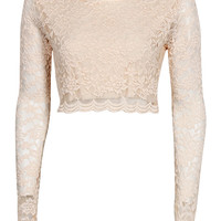 Sienna Long Sleeve Lace Crop Top
