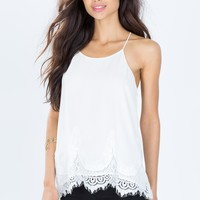 Embrace The Lace Halter