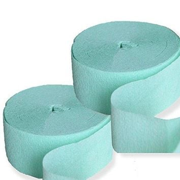 2 Mint Crepe Paper 81FT Party Streamers Wedding Birthday Baby Shower