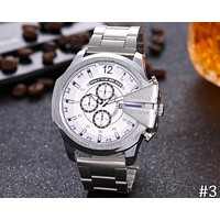 Diesel 2018 men's fashion trend big dial three eye chronograph watch F-JYXCX-Y #3