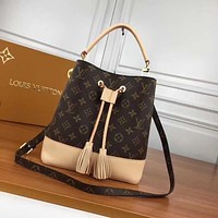LV Louis Vuitton MONOGRAM CANVAS NOE BUCKET SHOULDER BAG