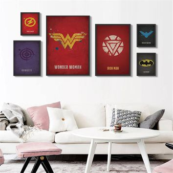 Marvel Comics Heroes Pictures Abstract Oil Painting Canvas Wall Art Home Decor Wall Paintings Iron Man Batman Captain Poster