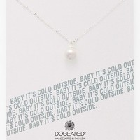 Women's Dogeared 'Baby It's Cold Outside' Boxed Pearl Pendant Necklace