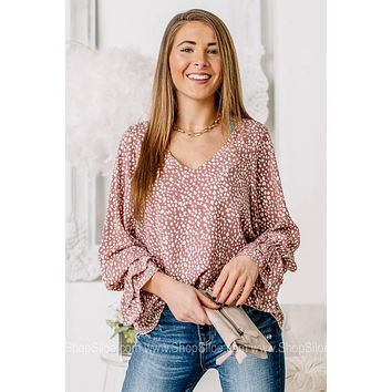 Be Who You'll Be Blush Spotted Top