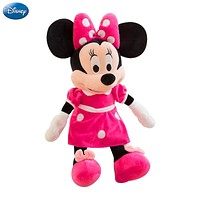 40cm Disney Mickey Mouse Minnie Animal Stuffed Plush Toys Kawaii Doll Christmas Birthday Gift For Children Kid Girl