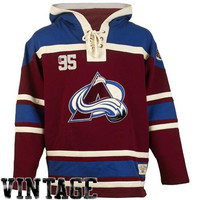 Colorado Avalanche Old Time Hockey Home Lace Heavyweight Hoodie – Burgundy