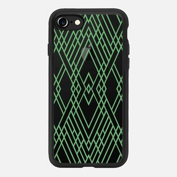 Map Mirror Outline Green iPhone 7 Case by Project M | Casetify